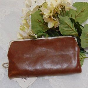 Hobo Lauren Cafe Embossed Bifold Leather Wallet